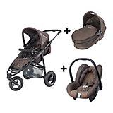 Jogger Speedi, Fast Brown inkl. Kinderwagenaufsatz + Babyschale Citi SPS, Cave