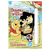"""Гравюра Винни и его друзья малая золото """"Винни и Хрюня"""",  Winnie the Pooh, LORI"""