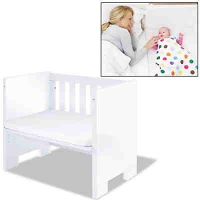 beistellbett little sky mit matratze wei hochglanz pinolino mytoys. Black Bedroom Furniture Sets. Home Design Ideas