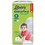 Подгузники Libero Everyday, Maxi 7-18 кг (4), 66 шт., Mega