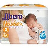 Подгузники Libero Newborn, Newborn 2-5 кг (1), 30 шт.