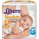 Подгузники Libero Newborn, Mini 3-6 кг (2), 26 шт.