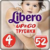 Трусики Up&Go, Mega Maxi 7-11 кг (4), 52 шт., Libero