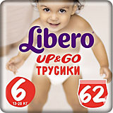 Трусики Up&Go, Giga XL 13-20 кг (6), 62 шт., Libero
