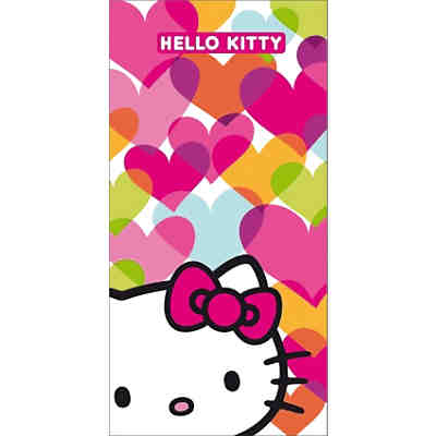 Strand- & Badetuch Hello Kitty, Mimi Love, 75 x 150 cm