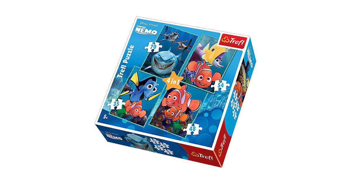 Puzzle 4in1 - 35/48/54/70 Teile - Findet Nemo