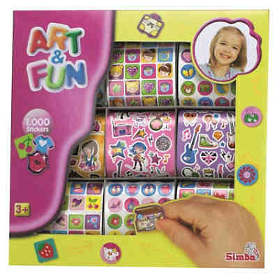 Art & Fun 1000 Girls Sticker, 2-sort.