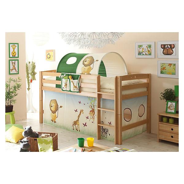 hochbett timmy r buche massiv natur 90 x 200 cm safari ticaa mytoys. Black Bedroom Furniture Sets. Home Design Ideas