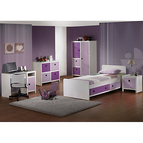 jugendzimmer komplett lila g nstig kaufen. Black Bedroom Furniture Sets. Home Design Ideas