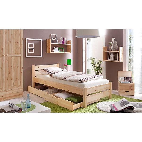 jugendbett bora kiefer massiv natur 90 x 200 cm ticaa mytoys. Black Bedroom Furniture Sets. Home Design Ideas