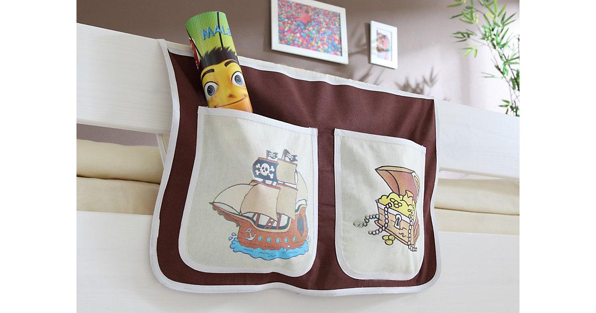 Bett-Tasche Hoch- und Etagenbetten, Pirat braun-beige Gr. 30 x 50 Kinder