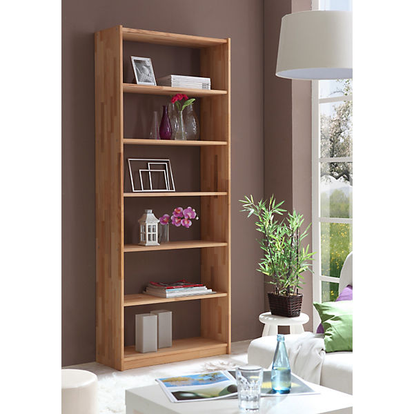 b cherregal buche massiv natur 213 6 x 80 cm ticaa mytoys. Black Bedroom Furniture Sets. Home Design Ideas