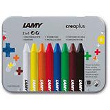 LAMY crea3plus Wachsmalstifte 2 in 1, 8 Farben