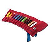 3 Plus-Farbstiftrolle inkl. 12 Farbstifte & Anspitzer