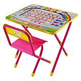 """Набор мебели """"Алфавит"""" (2-5 лет), Дэми, розовый"""
