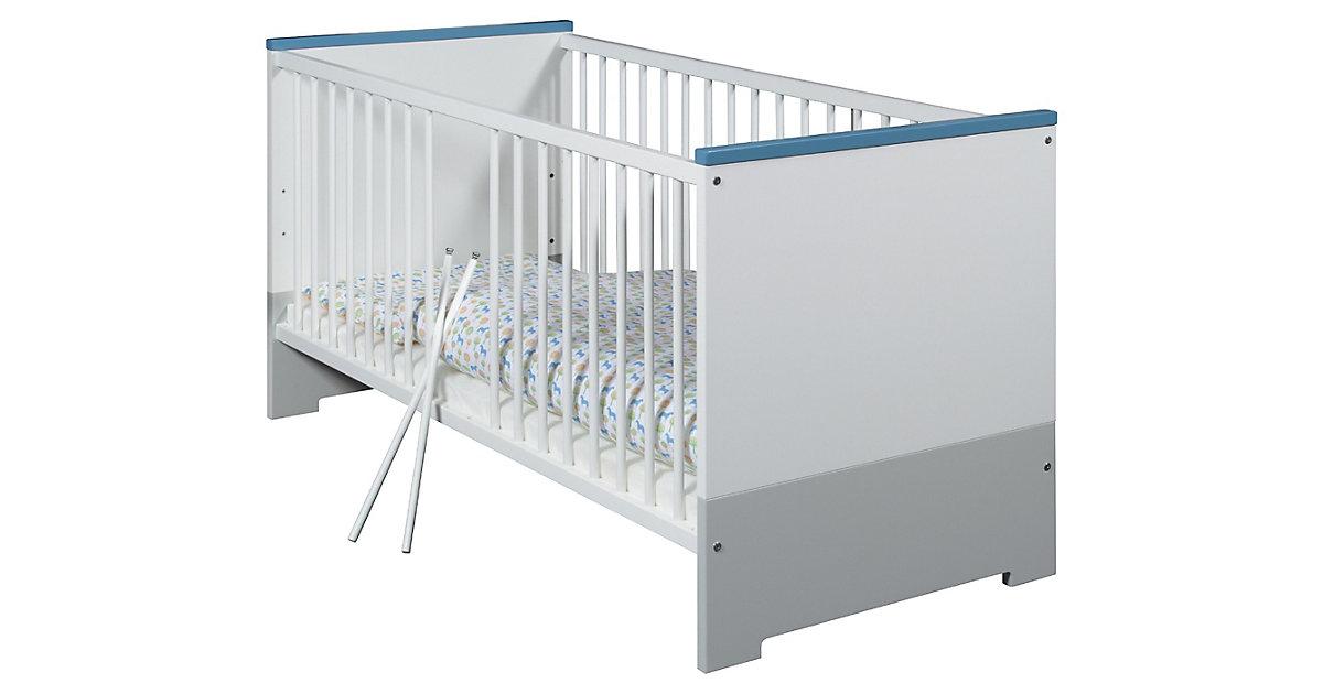 Kinderbett CANDY BLUE, weiß/blau/grau, 70 x 140 cm