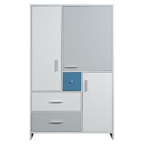 kleiderschrank candy blue wei blau grau 3 t rig. Black Bedroom Furniture Sets. Home Design Ideas