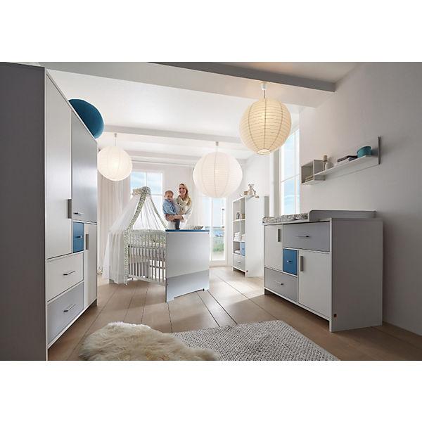 komplett kinderzimmer candy blue 3 tlg kinderbett umbauseiten wickelkommode und 3 t riger. Black Bedroom Furniture Sets. Home Design Ideas