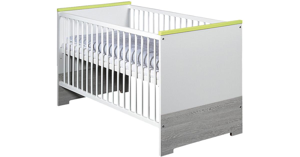 Kinderbett PEPP, weiß/mali wenge, 70 x 140 cm grau