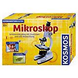 Mikroskop - Schülermikroskop mit Glaslinsen und LED-Beleuchtung