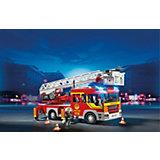 Пожарная машина с лестницей со светом и звуком, PLAYMOBIL