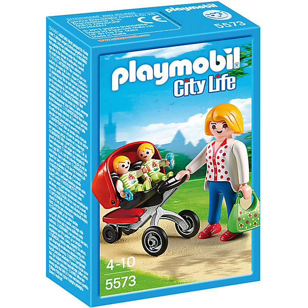 playmobil 5573 zwillingskinderwagen playmobil city life mytoys. Black Bedroom Furniture Sets. Home Design Ideas