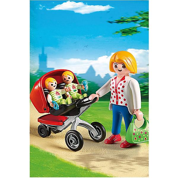 Детский сад: Мама с близнецами в коляске, PLAYMOBIL