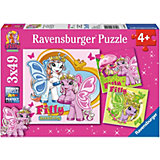 Puzzle Filly Schmetterlingsfreunde 3x49 Teile