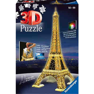 3d geb ude puzzle empire state building bei nacht 216 teile mit led beleuchtung ravensburger. Black Bedroom Furniture Sets. Home Design Ideas