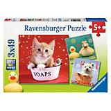 Пазл «Забавные животные» 3х49 деталей, Ravensburger