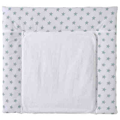 Wickelauflage Big Stars mint, 80 x 75 cm