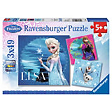 Puzzle 3 x 49 Teile Disney Die Eiskönigin: Elsa, Anna & Olaf