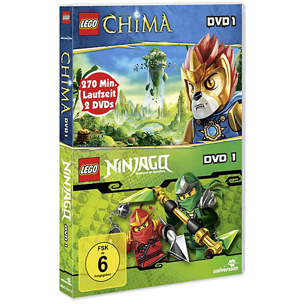 DVD LEGO Legends of Chima 01 & LEGO Ninjago 01