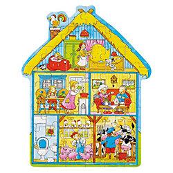 Пазл в коробке фигурный 43 дет Дом, GOKI
