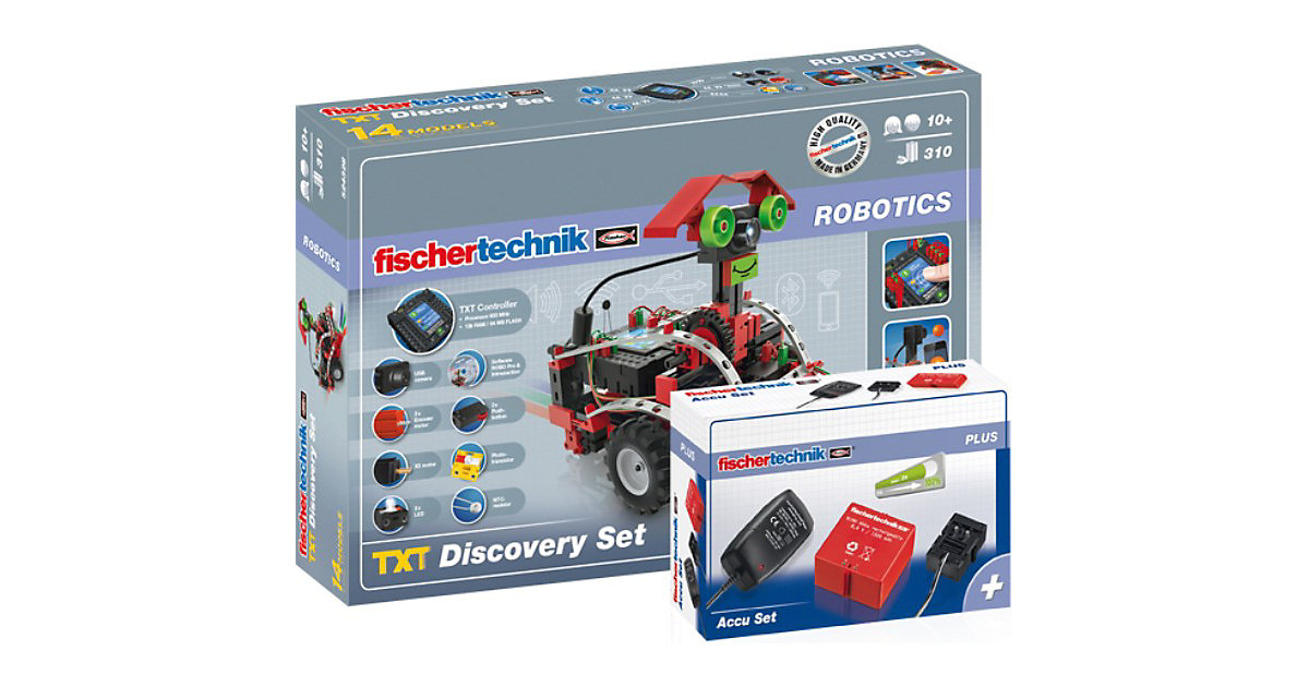 ROBOTICS ´´Paket TXT Discovery + Accu Set´´ - Robotik Komplettset