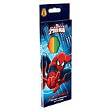 Цветные карандаши, 12 шт, Человек-Паук