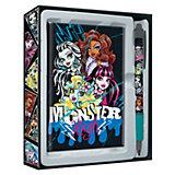 Набор канцелярский: ноутбук, ручка, Monster High