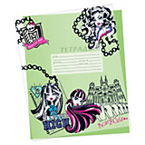 Обложки для тетрадей, 5 шт, Monster High