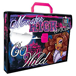 Пластиковая папка-чемодан, Monster High