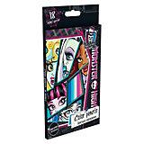 Цветные карандаши, 18 шт, Monster High