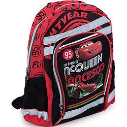Школьный рюкзак с мягкой спинкой, Тачки