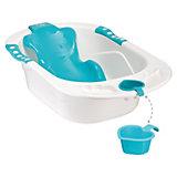 Ванна с анатомической горкой BATH COMFORT, Happy Baby, голубой
