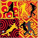Schwarz-Rot-Gold Sticker 2-in-1