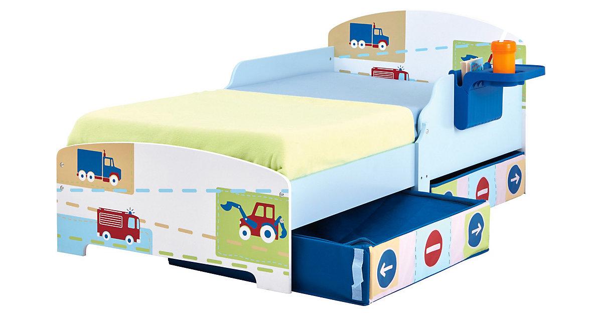 Kinderbett Auto, 70 x 140 cm blau