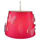 Hängelampe Rosalie, 3D Schmetterling, fuchsia/rosa