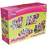 Disney Minnie 4in1 Konturenpuzzle 3/6/9/12 Teile