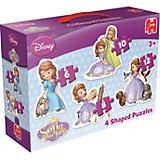 Disney Sofia die Erste 4in1 Konturenpuzzle 6/8/10/12 Teile