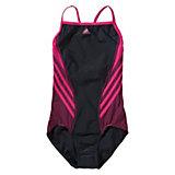 adidas Performance Kinder Badeanzug Infinitex, schwarz/pink