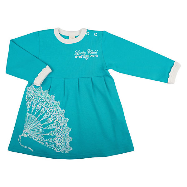 Платье для девочки Lucky Child - бирюзовый