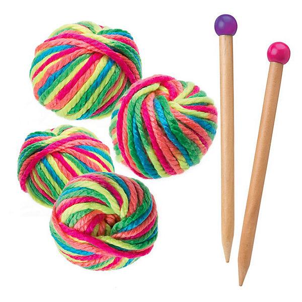 """Набор для вязания спицами """"Разноцветные шарф и шапочка"""", Alex"""